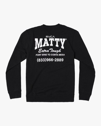 1 MATTYS CREW FLEECE SWEATSHIRT Black M608WRET RVCA