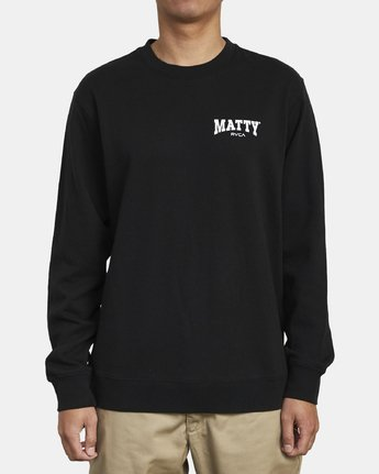 2 MATTYS CREW FLEECE SWEATSHIRT Black M608WRET RVCA