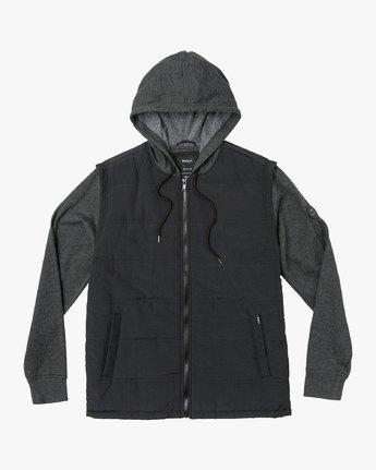 0 Logan Puffer Jacket Black M610VRLG RVCA