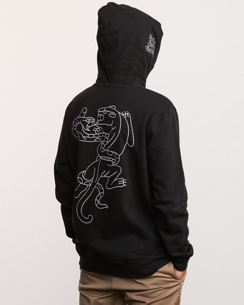 4 Pick Your Battles Hoodie Black M621URKR RVCA