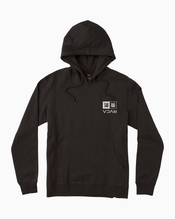 1 George Thompson Kabuki Hoodie Black M622SRPT RVCA