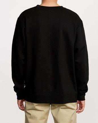 5 VA Vent Crew Sweatshirt Black M622TRVV RVCA
