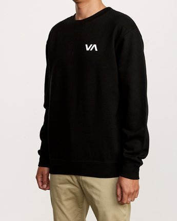 3 VA Vent Crew Sweatshirt Black M622TRVV RVCA