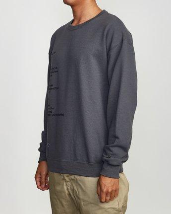 3 Mills BL Tokyo Fleece Sweatshirt Grey M622VRMM RVCA