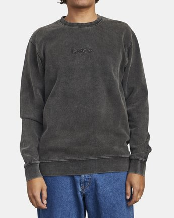 1 TONALLY CREW SWEATSHIRT Orange M6273RTO RVCA