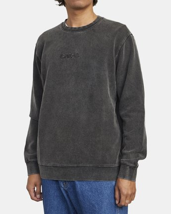 2 TONALLY CREW SWEATSHIRT Orange M6273RTO RVCA