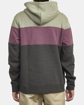 4 VERNON COLOR BLOCK HOODIE Black M6313RVE RVCA