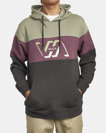 1 VERNON COLOR BLOCK HOODIE Black M6313RVE RVCA