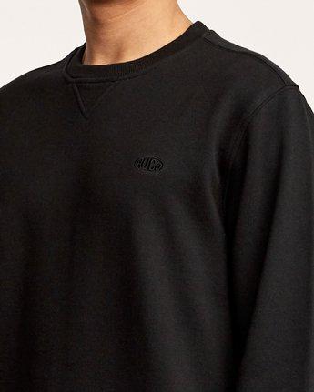5 Eddy Crew Knit Sweatshirt Orange M631VREC RVCA
