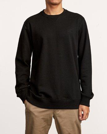 2 Eddy Crew Knit Sweatshirt Black M631VREC RVCA