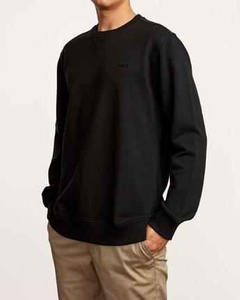 3 Eddy Crew Knit Sweatshirt Black M631VREC RVCA