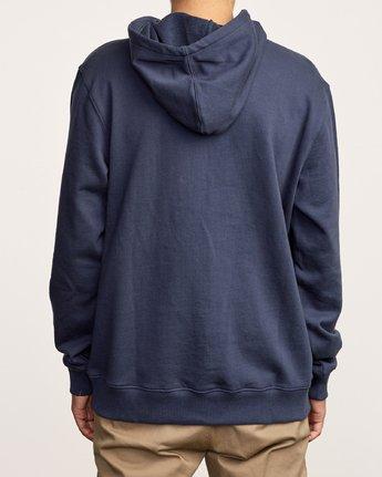 3 Eddy Pullover Knit Hoodie Blue M632VREH RVCA