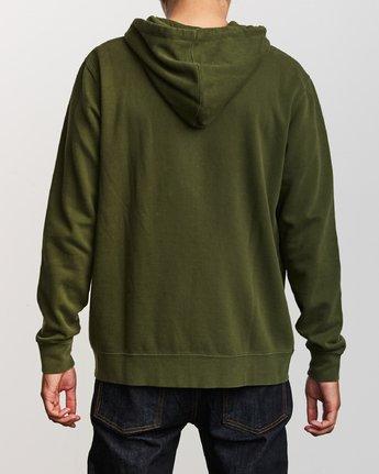3 Tonally Zip Pigment Hoodie Green M633VRTZ RVCA