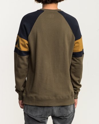 3 Benny Colorblocked Sweatshirt  M640SRBC RVCA