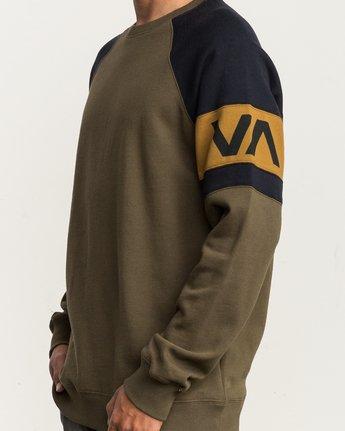 4 Benny Colorblocked Sweatshirt  M640SRBC RVCA