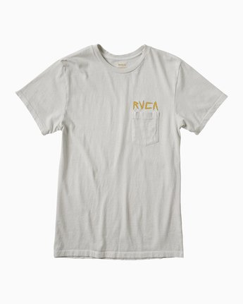 1 Bolt Tiger T-Shirt Silver M641E02B RVCA