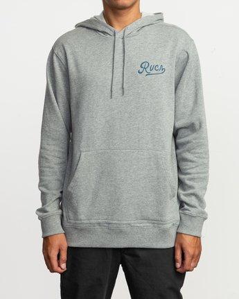 2 Dayshift Logo Hoodie Grey M647SRDL RVCA