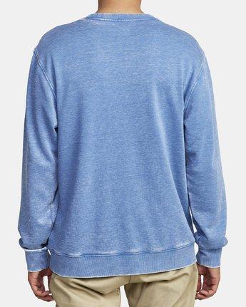 3 PSYCHED CREW SWEATSHIRT Blue M6962RHY RVCA