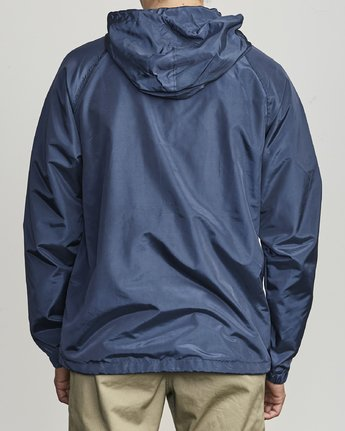 3 VA Hooded Coaches Jacket Blue M701NRVA RVCA