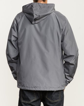 4 VA Hooded Coaches Jacket Grey M701NRVA RVCA