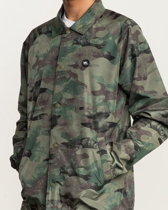6 ATW II Coaches Jacket Green M701QRAT RVCA