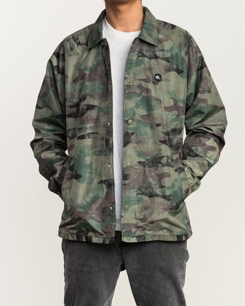 2 ATW II Coaches Jacket Green M701QRAT RVCA