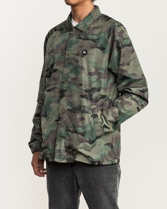 3 ATW II Coaches Jacket Green M701QRAT RVCA