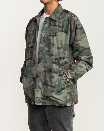 4 ATW II Coaches Jacket Green M701QRAT RVCA