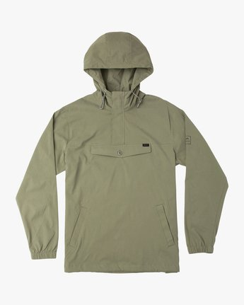 0 On Point Anorak Jacket Green M701TROP RVCA