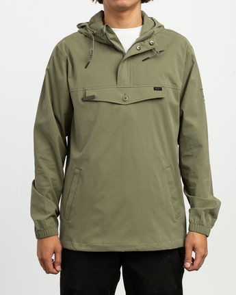 1 On Point Anorak Jacket Green M701TROP RVCA