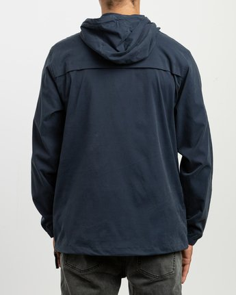 4 On Point Anorak Jacket Blue M701TROP RVCA