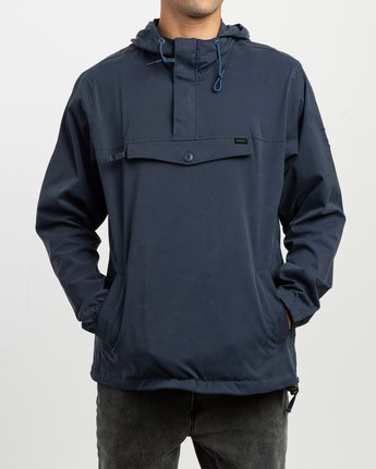 2 On Point Anorak Jacket Blue M701TROP RVCA