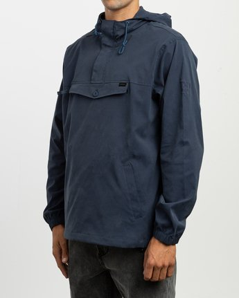 3 On Point Anorak Jacket Blue M701TROP RVCA