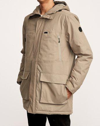 3 Patrol Parka Jacket Grey M701VRPA RVCA
