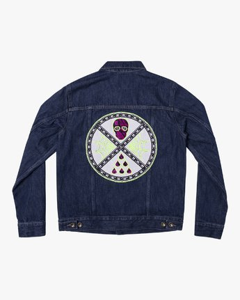 0 Ben Venom Custom Denim Jacket Purple M701WRVJ RVCA