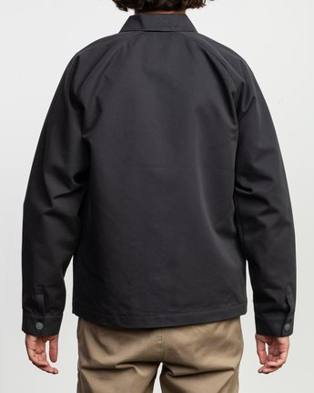 4 Tom Gerrard Waist Cut Jacket Black M702TRGE RVCA