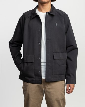 1 Tom Gerrard Waist Cut Jacket Black M702TRGE RVCA