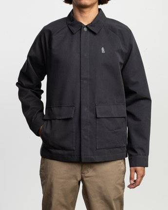 2 Tom Gerrard Waist Cut Jacket Black M702TRGE RVCA