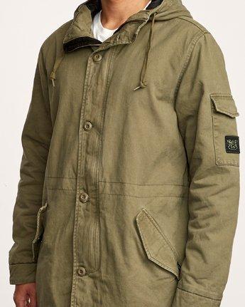 5 Standard Issue Parka Jacket Green M702VRSI RVCA