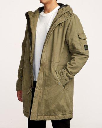 2 Standard Issue Parka Jacket Green M702VRSI RVCA