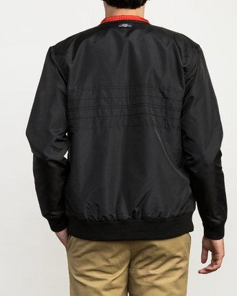 5 Campbell Brothers Windbreaker Jacket Black M703QRCA RVCA