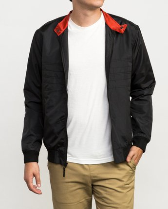 1 Campbell Brothers Windbreaker Jacket Black M703QRCA RVCA
