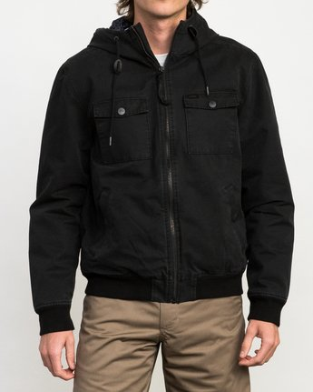 2 Hooded Bomber II Jacket Black M703QRHB RVCA
