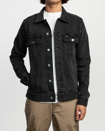 2 Daggers Denim Jacket Black M703TRDV RVCA