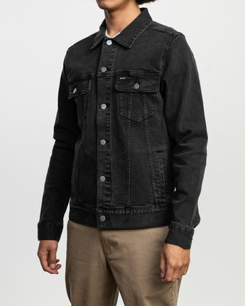 4 Daggers Denim Jacket Black M703TRDV RVCA
