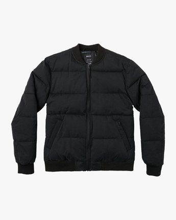 0 Superior Quilted Bomber Jacket Orange M703VRSB RVCA
