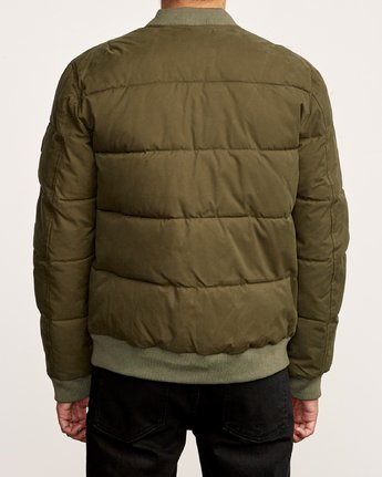 4 Superior Quilted Bomber Jacket Green M703VRSB RVCA