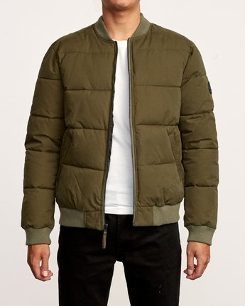 2 Superior Quilted Bomber Jacket Green M703VRSB RVCA