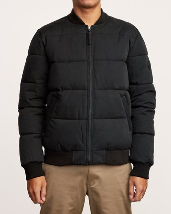 1 Superior Quilted Bomber Jacket Orange M703VRSB RVCA