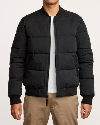 2 Superior Quilted Bomber Jacket Orange M703VRSB RVCA